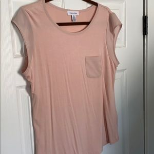 Blush Pink Blousey Cap Sleeve Top